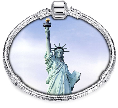 Pandora Compatible Charms By Landmark: Statue of Liberty