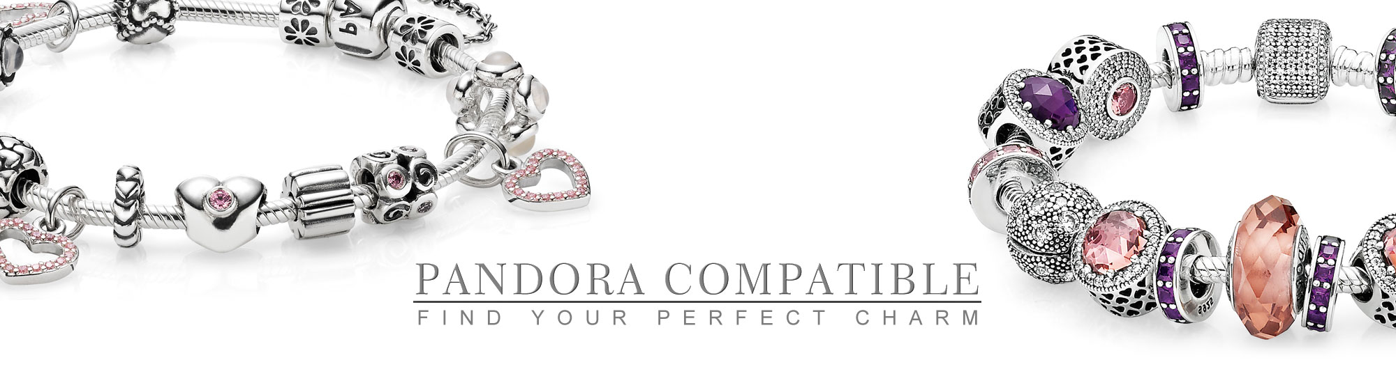 Pandora Bracelets beside the Pandora Compatible Logo