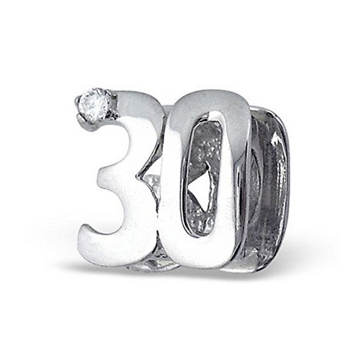 30th birthday charm bead