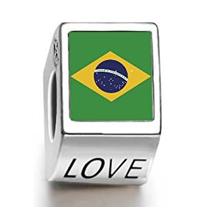2014 Brazil World Cup Bead with Love engraving
