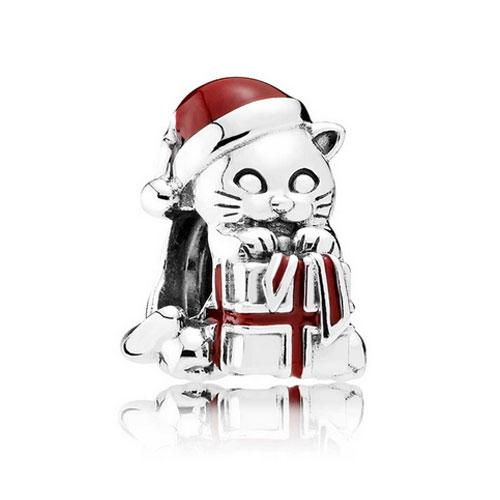 Christmas Kitten Charm