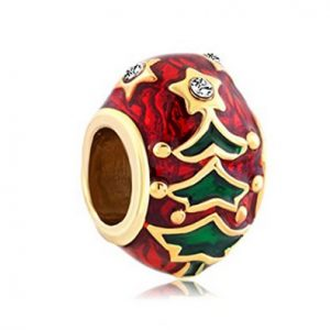 gaol & Red Christmas Tree Bead