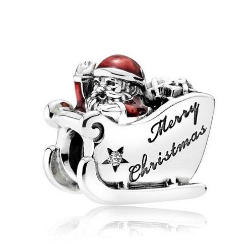 85b47e423 Official Pandora Silver Santa Sleigh Charm - Pandora Compatible ...