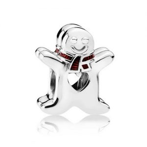 Silver Gingerbread Man Charm
