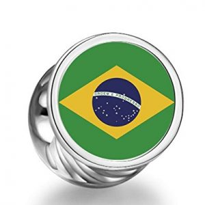 Brazil World Cup Team Logo Charm Bead