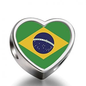 2014 World Cup Brazil Team Logo Charm