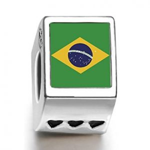 Brazil World Cup Charm With Three Hearts