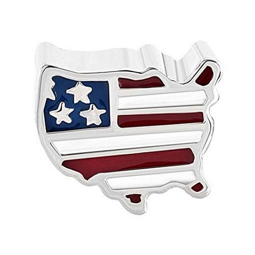 USA Continent Flag Charm