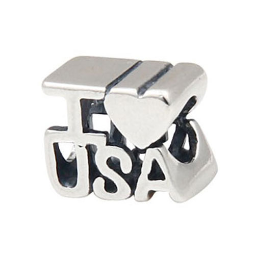 I Love USA Bead