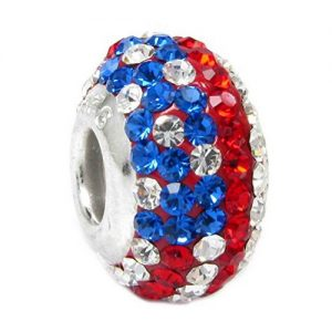 Stars & Stripes Crystal Charm