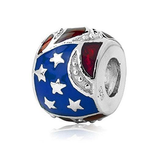 Silver USA Bead