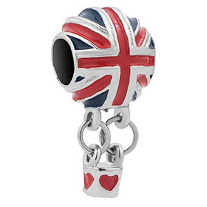 UK silver hot air balloon charm