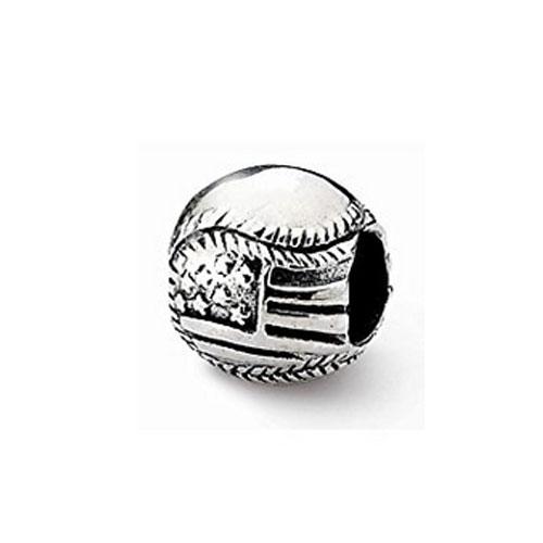 USA Flag Baseball Bead