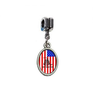 USA dont tread on me tea party pendant