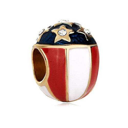 USA Faberge Egg Charm