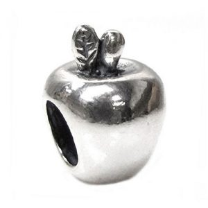 Silver Big Apple New York Charm Bead