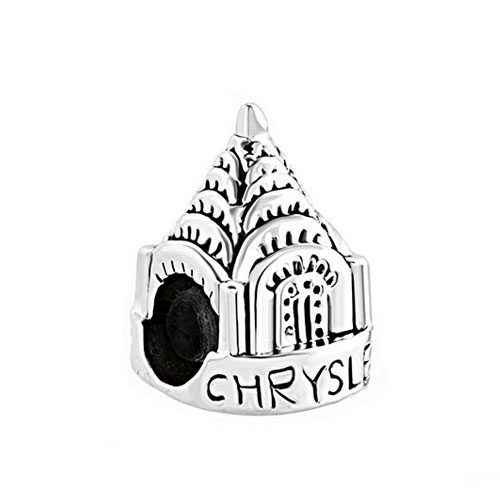 Chrysler Building Charm Bead