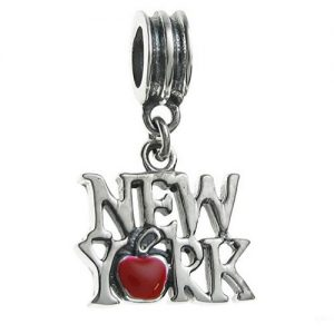 New York Colourder Text Charm