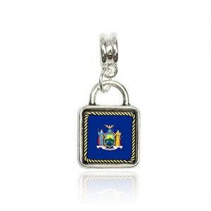 New york State Flag Square Charm