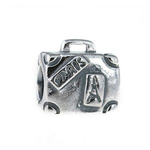 Paris Suitcase Charm Bead