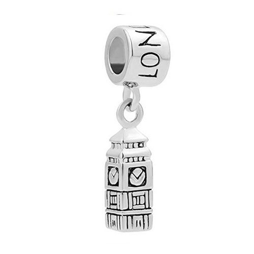 Big Ben Stylised Silver Charm