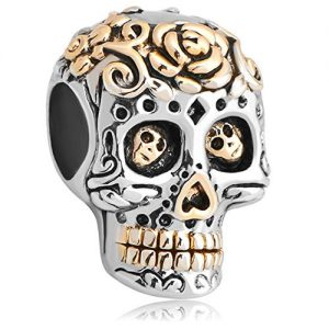 Halloween Day of the Dead Skull Bead