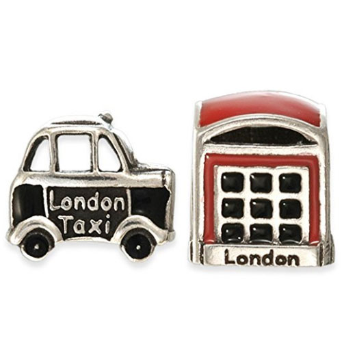 London Taxi & Phone Box Charm Beads