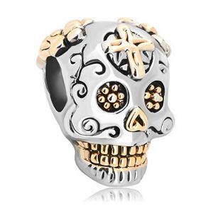 Muertos Skeleton Halloween Bead