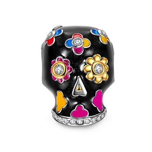 NinaQueen Skull Halloween Charm Bead