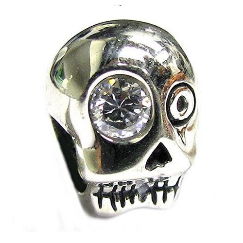 Silver Skull with Crystal Eye