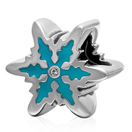Blue Enamel Snowflake
