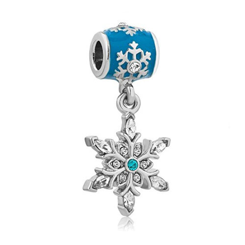 Blue Snowflake Dangle Charm