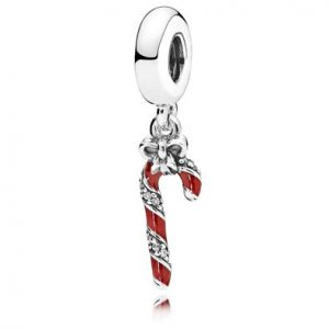 Official Pandora Christmas Charm Candy Cane