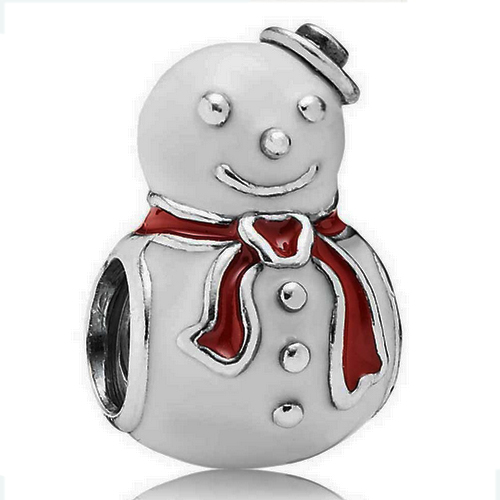 Chirstmas Snowman wearing red scarf