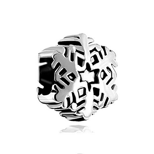 Silver Snowflake Bead