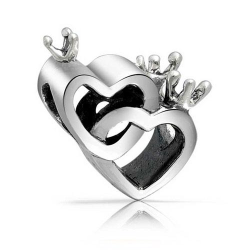 Crown Hearts Love Charm
