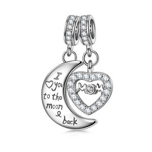 Love You To The Moon and Back Mom Charm